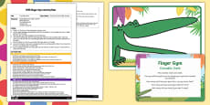 EYFS Crocodile Teeth Finger Gym Plan and Prompt Card Pack to Support Teaching on The Enormous Crocodile