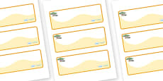 Safari Themed Editable Drawer-Peg-Name Labels (Colourful)