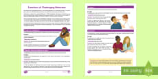 Understanding the Functions of Behaviour Fact Sheet