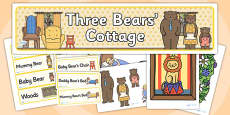 Three Bears Cottage Role Play Pack