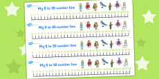 Thumbelina Number Lines 0-30