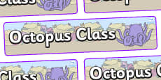 Octopus Themed Classroom Display Banner
