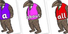100 High Frequency Words on Badger to Support Teaching on Fantastic Mr Fox