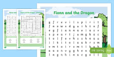 Fionn and the Dragon Themed Word Search