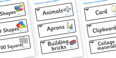 Eagle Themed Editable Classroom Resource Labels
