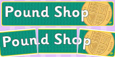 Pound Shop Role Play Banner