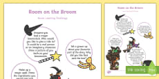 EYFS Home Learning Challenge Sheet Nursery FS1 to Support Teaching on Room on the Broom