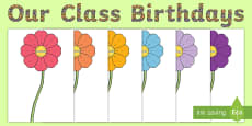Flower Themed Birthday Display Pack