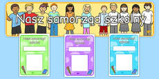 School Council Notice Board Pack Polish