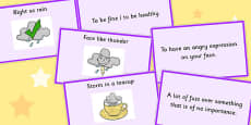 Weather Idioms Matching Cards