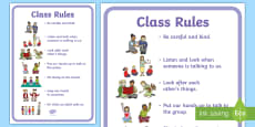Foundation Phase Class Rules Display Poster