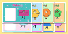 2D Shapes Group Signs