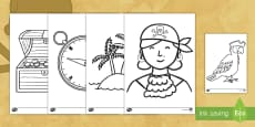 * NEW * Extra Large Pirate Coloring Activity