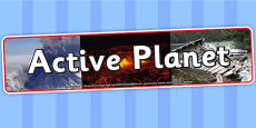 Active Planet Photo Display Banner