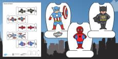 Superhero Themed Pencil Topper