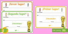 Diplomas: Campeonato de fútbol