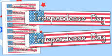 Independence Day Wristbands