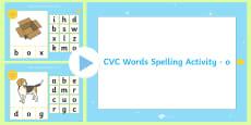 CVC Words 'O' Spelling PowerPoint