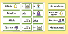 Islam Word Cards