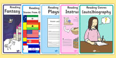 Reading Genres Display Posters