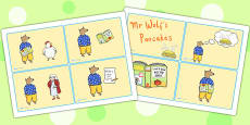 Story Cards to Support Teaching on Mr Wolf's Pancakes
