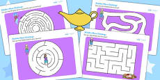 Aladdin Differentiated Maze Activity Sheet Pack