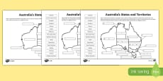 Australian States and Territories Differentiated Activity Sheets