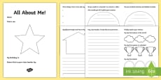 LKS2 All About Me Transition Booklet English