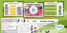 PlanIt - Computing Year 6 - Scratch Animated Stories Unit Lesson 2: Broadcast a Message Lesson Pack