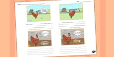 Little Red Hen Storyboard Template