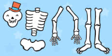 Make a Moving Skeleton Cutting Activity (Large) to Support Teaching on Funnybones