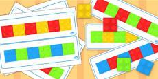 Block Colour Matching Cards Set 1