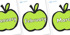 Months of the Year on Apples