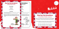 Sharing Marshmallows Christmas Elf Maths Scenario