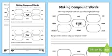 KS1 English How Many Compound Words Can You Make Activity Sheet
