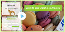 Definite and Indefinite Articles Presentation French