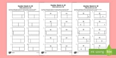 Bar Modelling Number Bonds to 10 Differentiated Activity Sheets English/Mandarin Chinese English/Mandarin Chinese