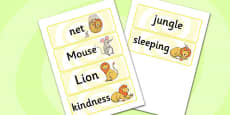 The Lion And The Mouse Word Cards