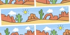 Small World Background (American Desert)