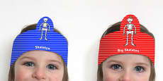 Role Play Headbands to Support Teaching on Funny Bones