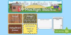 Pecyn Chwarae Rôl Safle Adeiladu Y Tri Mochyn Bach