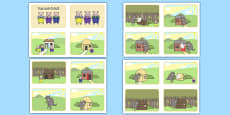 The Three Little Pigs Story Sequencing 4 per A4 Polish