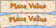 Place Values Display Banner