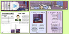 Scots Poetry Resource Pack A Night's Rain by Walter Wingate