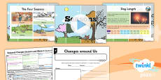 PlanIt - Science Year 1 - Seasonal Changes (Autumn and Winter) Lesson 1: Seasons Lesson Pack