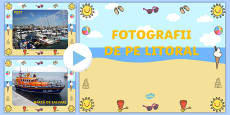 Seaside Display Photo PowerPoint Romanian