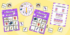 z Sound Bingo Game with Spinner