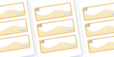 Lion Cub Themed Editable Drawer-Peg-Name Labels (Colourful)
