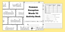 Common Exception Words Year 2 Activity Book