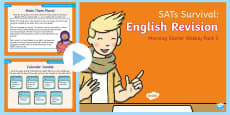 SATs Survival: Year 2 English Revision Morning Starter Weekly PowerPoint Pack 3